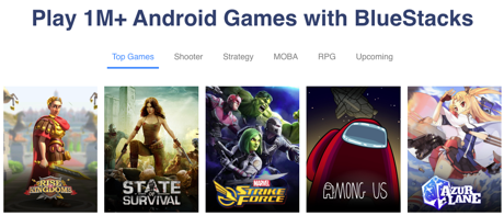 Play 1M+ Android games with BlueStacks