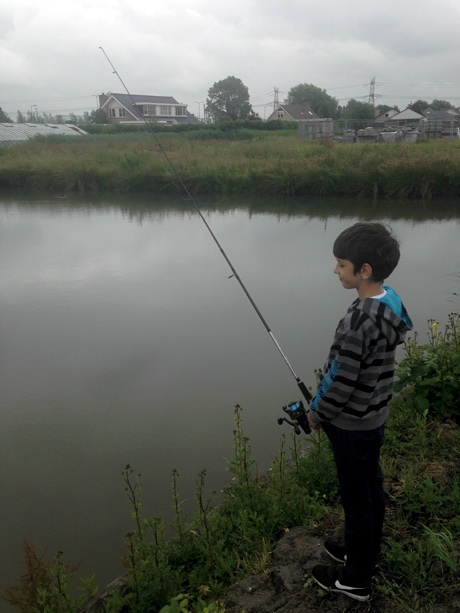 Adam fishing