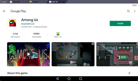 Among Us by InnerSloth LLC in the Google Play Store