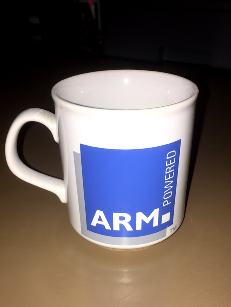 "The ""ARM™ Powered"" mug"