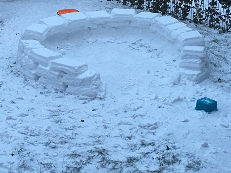 The first three rows of the igloo