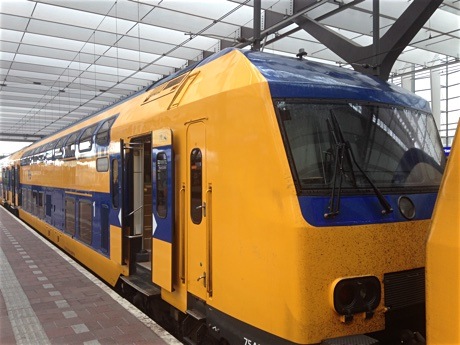Rotterdam: the NS Intercity to Leeuwarden
