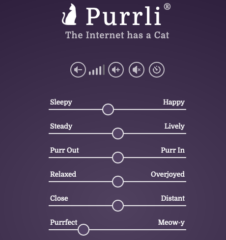 The Purrli® user interface