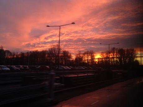 Sunset near Delft