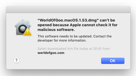 World of Goo can't be opened